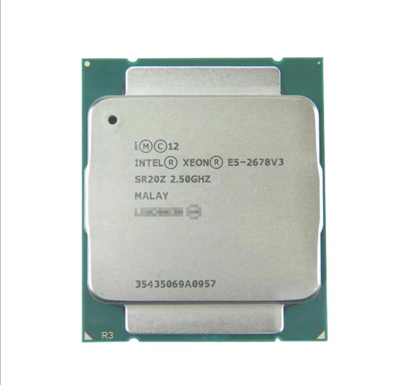 Procesador Xeon E5 2678 V3 CPU 2,5G Serve LGA 2011-3 E5-2678 V3 2678V3 PC CPU de escritorio, procesador para placa base X99