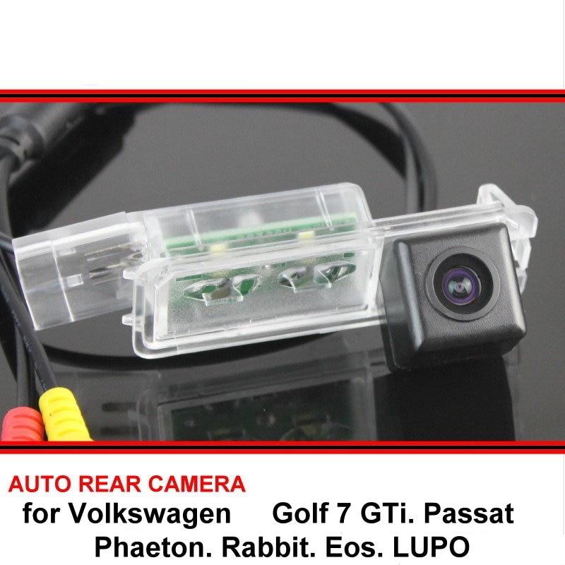Para Volkswagen Golf 7, GTi Passat B7, Phaeton Rabbit, Eos, LUPO, vista trasera de coche, cámara de marcha atrás, cámara de estacionamiento de visión nocturna
