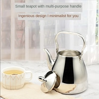 Sanqia באיכות גבוהה פשוט סגנון נירוסטה מעלית סיר מתכת קומקום עם מסנן תה קומקום עם מסננת Infuser
