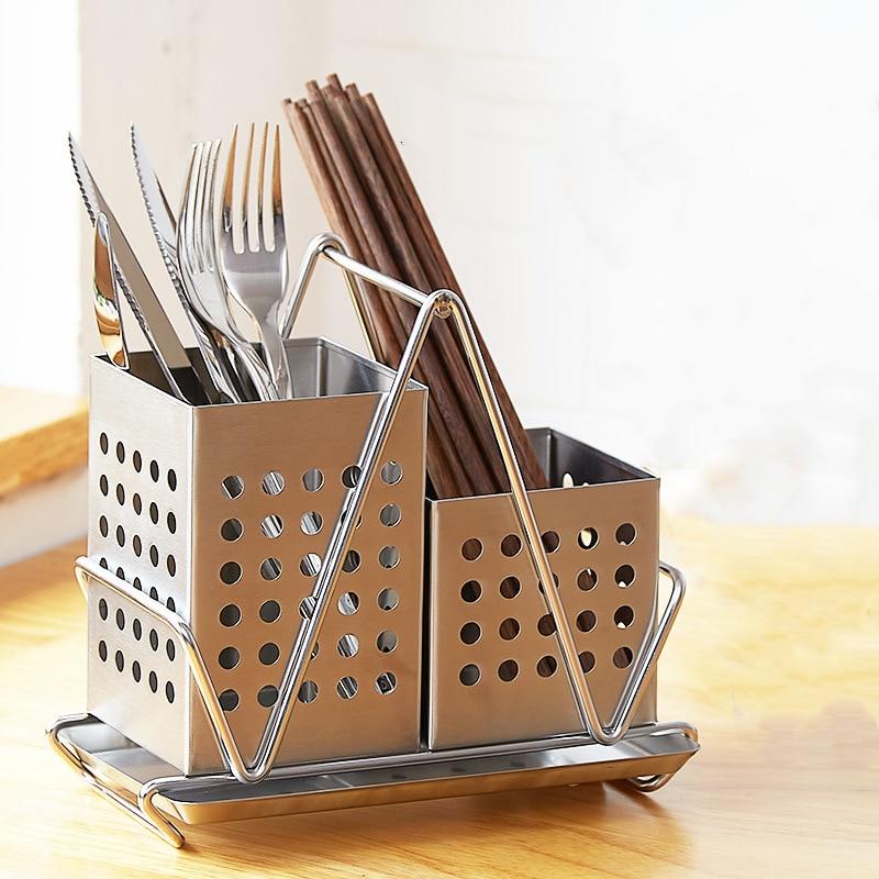 جميع 304 الفولاذ المقاوم للصدأ حامل للمطبخ تخزين الرف ل السكاكين السكاكين ملاعق شوكة حامل أدوات الأدوات المنظم الحاويات