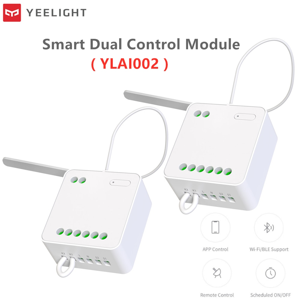 Original Yeelight Two-way Control Module Wireless Relay Controller 2 Channel Intelligent Switch Work