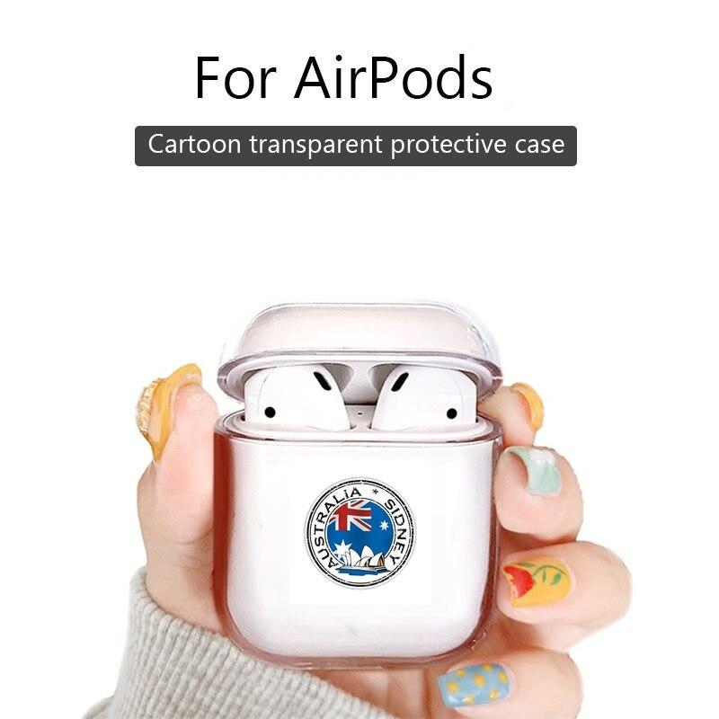 Bonita funda rígida transparente para Apple Airpods 1/2 accesorios para auriculares funda protectora airpod pro cubierta Australia Sidney Opera