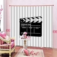 Rideau de panneau de cinema personnalise de toutes tailles  fenetre occultante pour salon chambre a coucher  decoration de maison