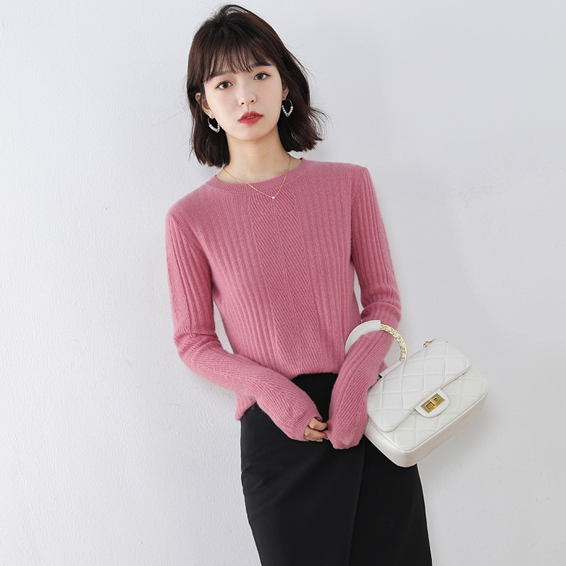 adohon 2020 woman winter 100% Cashmere sweaters and autumn knitted Pullovers High Quality Warm Female thickening O-neck enlarge
