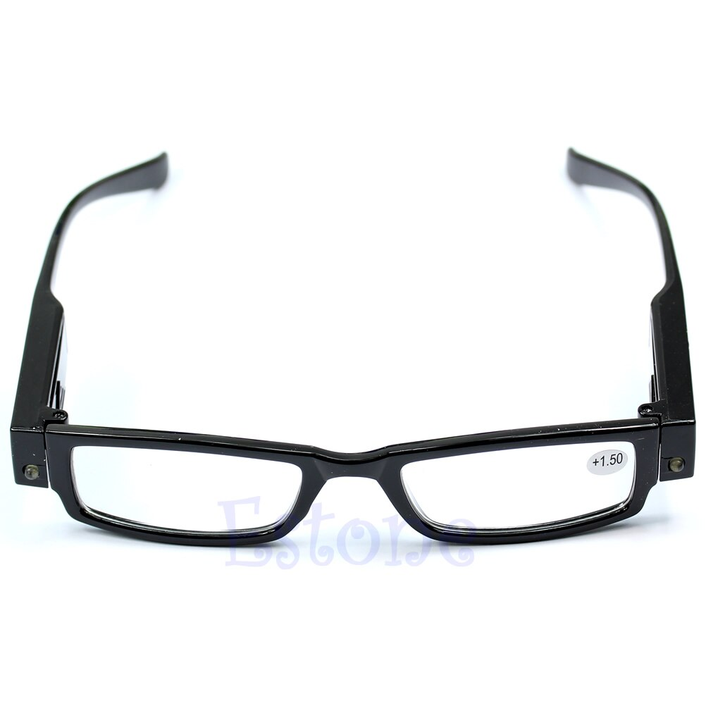 Iluminar, multi resistência óculos de leitura led lupa dioptria