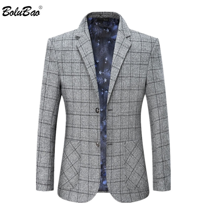 BOLUBAO marca chaquetas casual hombre de negocios de los hombres de traje pequeño traje de abrigos primavera otoño vestido nuevo abrigos abrigo hombre