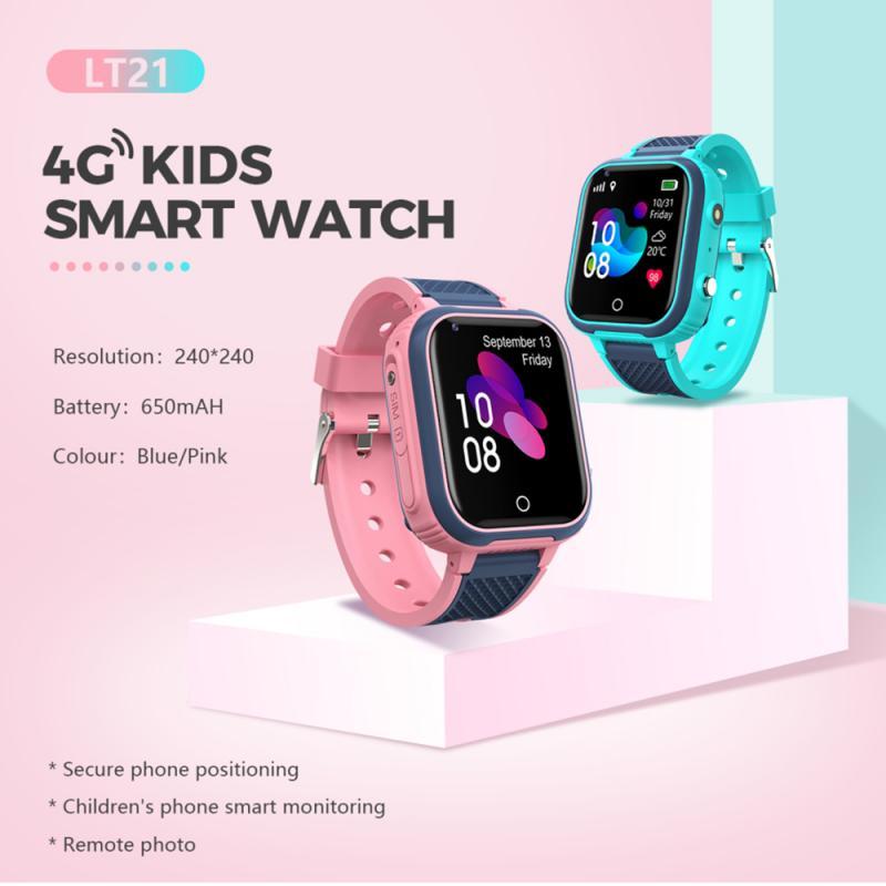 4G ساعة ذكية للأطفال كاميرا لتحديد المواقع واي فاي IP67 مقاوم للماء الأطفال الطلاب Smartwatch مكالمة فيديو عن بعد رصد ساعة الهاتف هدية الطفل