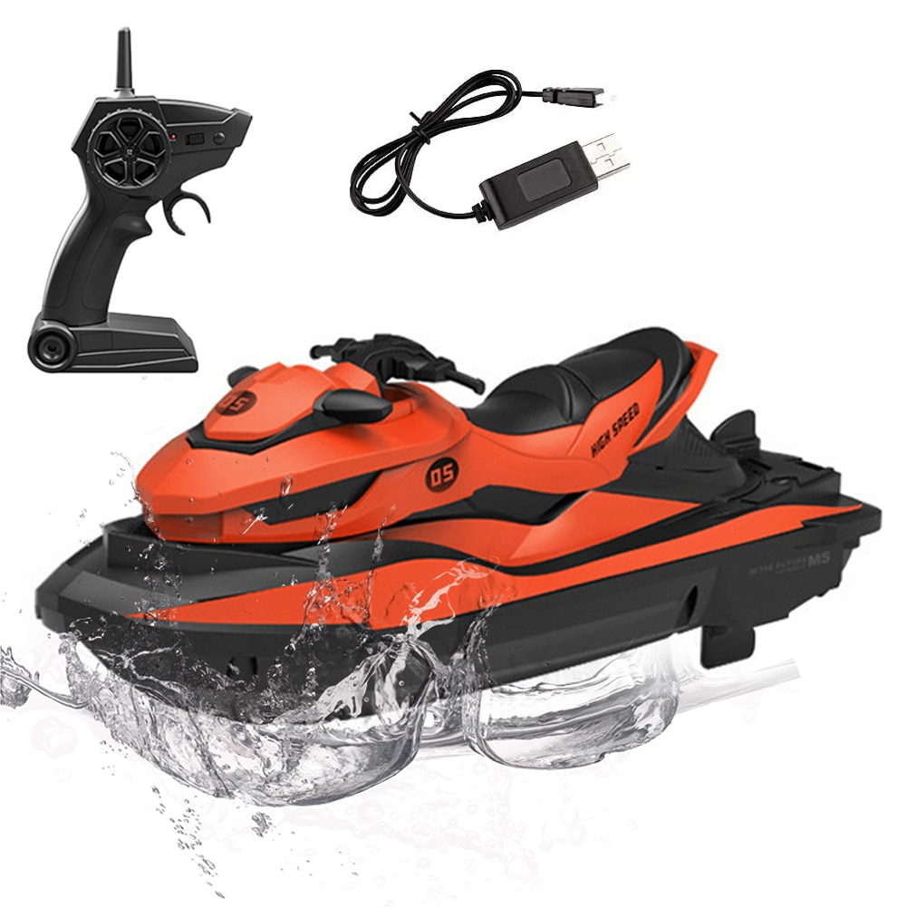 RC Boats Remote Control Motors Boat Speedboat Ship Water Toys Remote Control Fishing Finder Boats For Pools Lakes Boys Gift enlarge