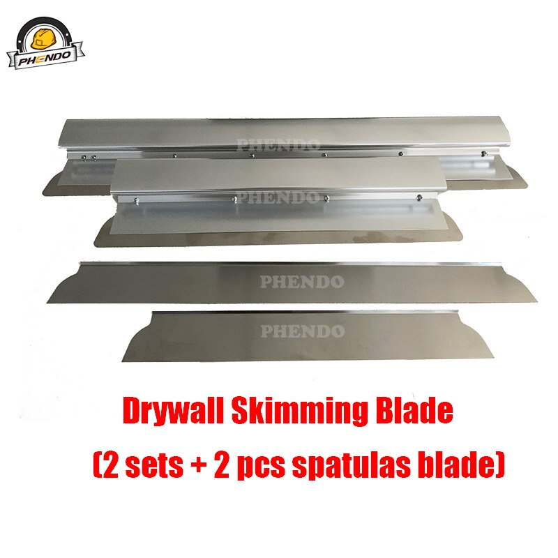 PHENDO Drywall Master Tools Sets Plastering Flat Box Skimming Spatulas Blade Set Sractical Taping Tools for Drywalls Jointing enlarge