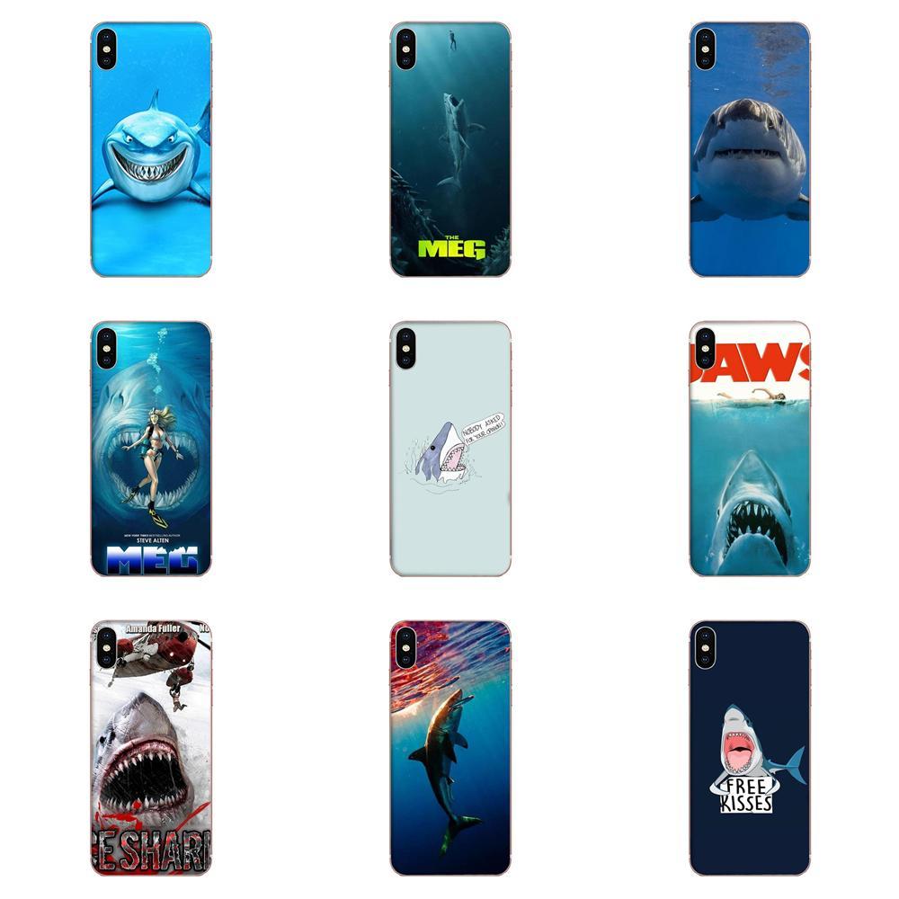 Funda de teléfono móvil TPU suave tiburón hielo mandíbulas para Xiaomi Redmi Note 2 3 3S 4 4A 4X 5 5A 6 6A Pro Plus