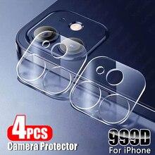 4Pcs เลนส์ป้องกันเลนส์สำหรับ Iphone 12 11 Pro Max Xs ป้องกันหน้าจอ Iphone 8 7 Plus SE 20 X Xr กล้องกระจกนิรภัย