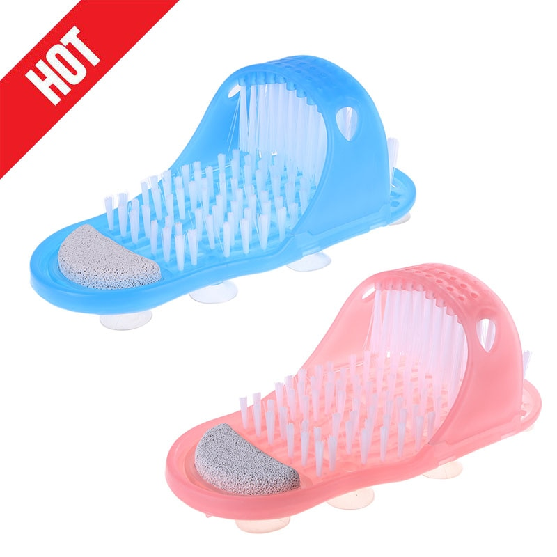 Plastic Bath Shoe Pumice Stone Foot Scrubber Shower Brush Massager Slippers for Feet Bathroom Products Foot Care Dropshipping