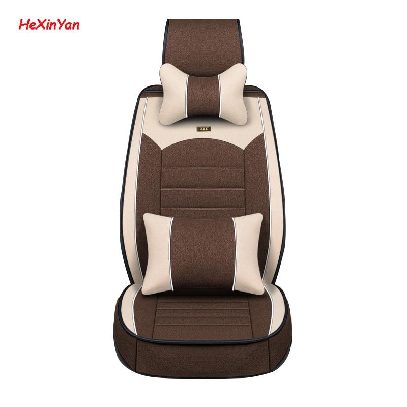 Fundas universales de lino para asiento de coche HeXinYan para Lexus all model LX570 ct200h nx lx470 gx470 ES IS RX GX GTH, accesorios de diseño para automóviles