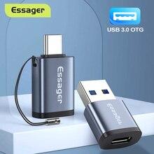 Essager USB 3.0 tipo-c adattatore OTG tipo C USB C convertitore maschio-usb femmina per Macbook Xiaomi Samsung S20 connettore USBC OTG