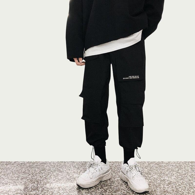 Dossan-ملابس تريكو هيب هوب للرجال والنساء ، بدلة رياضية فضفاضة ، موضة كورية ، غير رسمية ، بجيوب ، أسود وأرجواني ، 2020