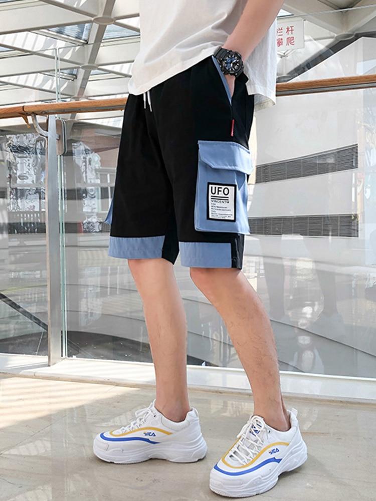 Pantalones cortos casuales de verano para Hombre Pantalones cortos de ocio de múltiples bolsillos trend ins pantalones sueltos bolsas tridimensionales rompevientos