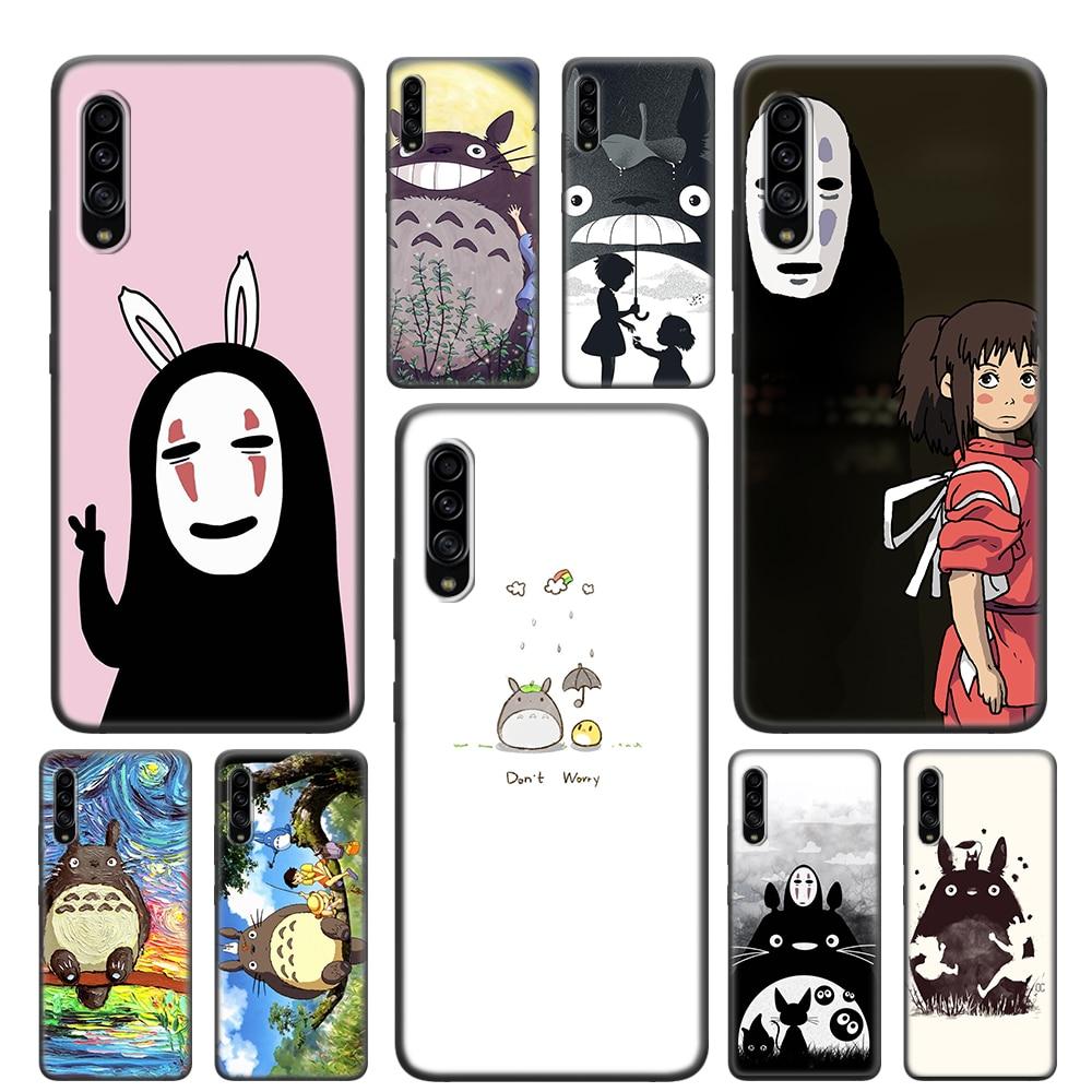 Chihiro Ghibli Totoro bonito Soft Case Para Samsung Galaxy A10 A10E A20 A30 A30S A40 A50 A60 A70 A70S A80 A51 A71 TPU Capa Capa