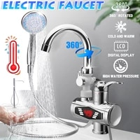 3000w stainless steel water heater faucet electric tap with shower head 3s fast heating instant hot water for kitchen bathroom