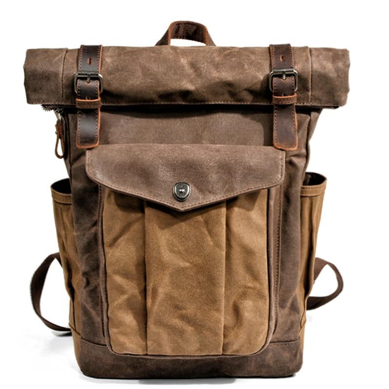 Ретро холщовая сумка, рюкзак для женщин, большой емкости, для прогулок, большой рюкзак, Студенческая Компьютерная сумка, мужская сумка