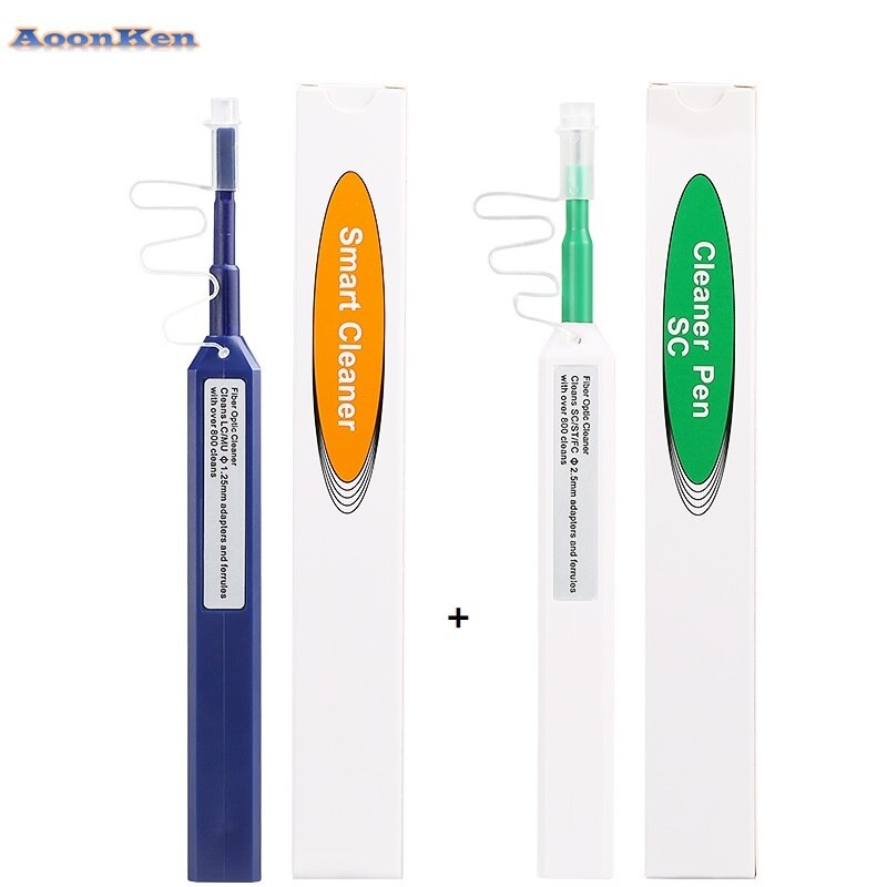 10PCS/lot FTTH Optical Fiber pen tool 2.5mm LC MU 1.25mm SC FC ST LC Connector Optical Smart Cleaner