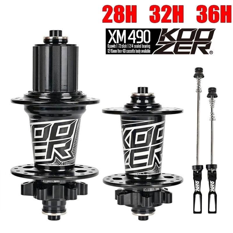 جديد Koozer XM490 محمل الدراجة محور الدراجة الجبلية MTB المحور المحور الخلفي QR 10*135 مللي متر 12*142 مللي متر 28 32 36 ثقوب مكبح قرصي دراجة المحور