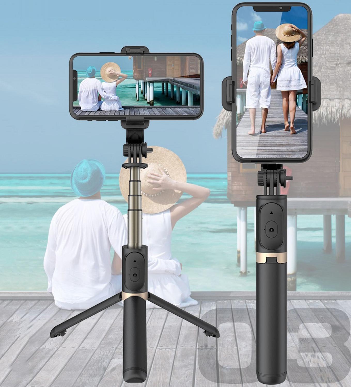 Беспроводная селфи-палка из алюминиевого сплава с Bluetooth, складные Моноподы, Универсальный штатив для смартфонов, экшн-камер