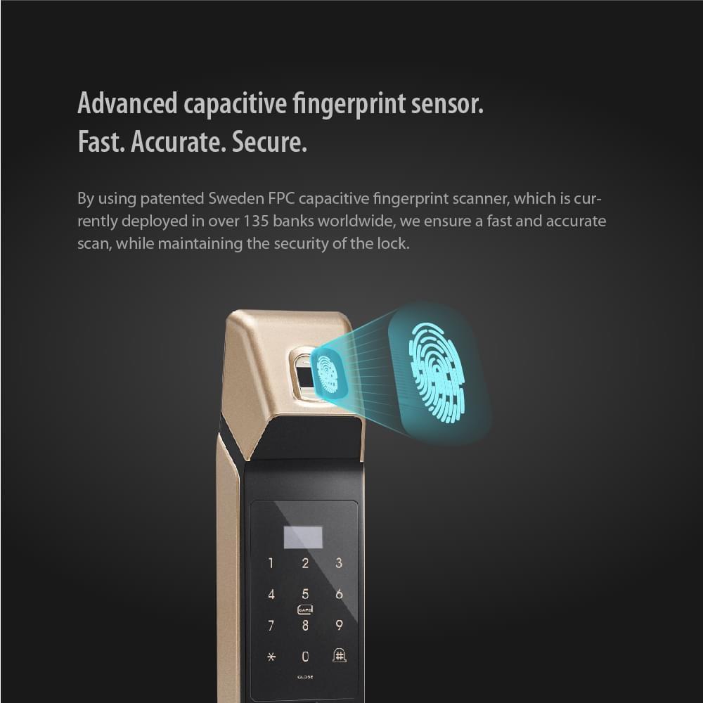 Terncy Smart Lock (Black) - Works with Apple Homekit enlarge