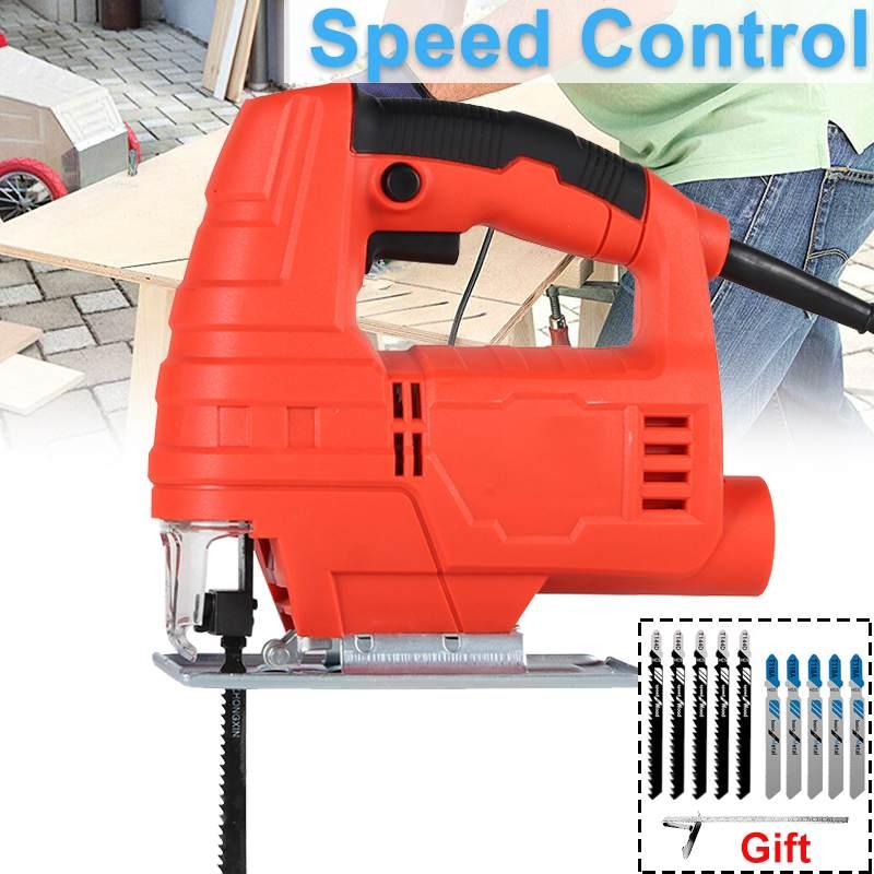 منشار بانوراما متعدد الوظائف ، أدوات كهربائية لقطع المعادن والخشب والألمنيوم مع 6 سرعات قابلة للتعديل