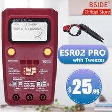 BSIDE ESR02PRO Transistor numérique SMD composants testeur Diode Triode capacité Inductance multimètre ESR mètre