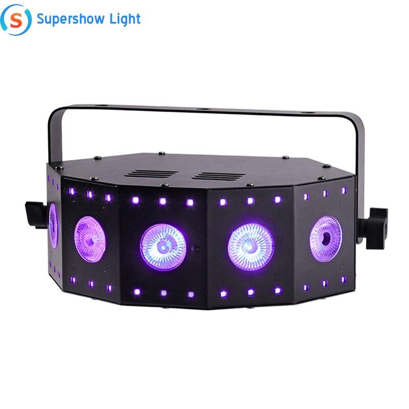 Новый Стиль Led 5*8 Вт RGB + UV 4in1 30*0 2 W SMD этап специальный эффект светильник машина для