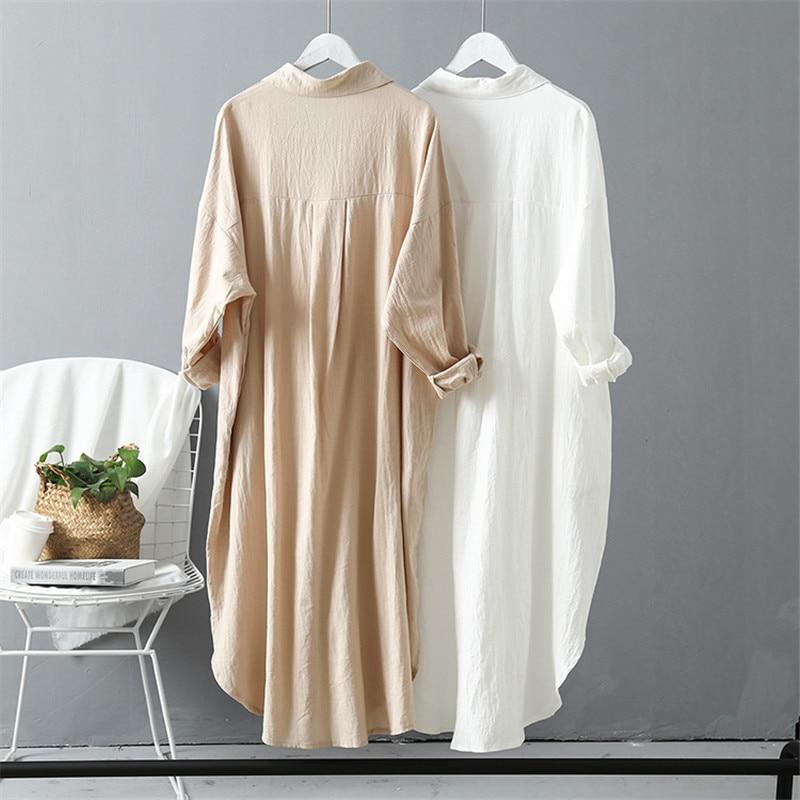 Loose Linen Maternity Blouses Long Sleeve Nursing Shirts 2020 Autumn Pregnant Women Long Blouses Pregnancy Clothings Plus Size enlarge