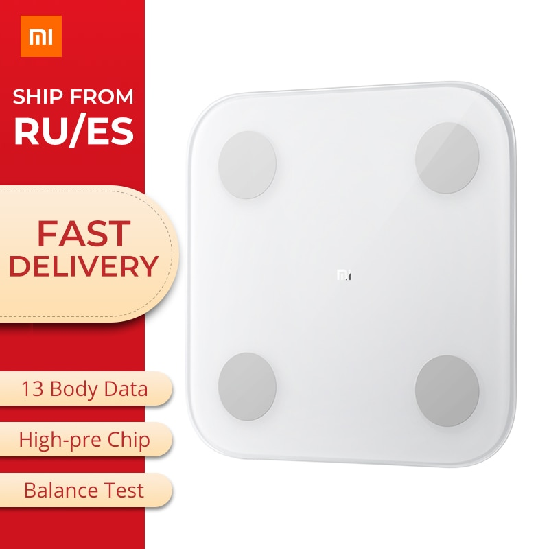 Оригинал Xiao mi Smart Body Fat 2 mi весы состава Bluetooth 5,0 баланс тест тела Дата B mi здоровье взвешивание весы монитор