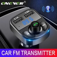 onever fm transmitter aux modulator bluetooth handsfree car kit car audio mp3 player with 3 1a quick charge dual usb car charger