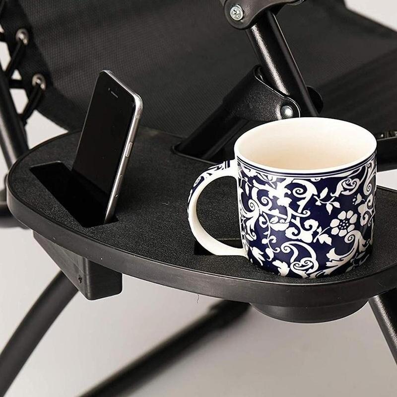 Черный складной стул чашка держатель поднос открытый сад подносы напитки пляж кофе гравитация чай реклайнер бутылка кемпинг инструмент Lou O0S1