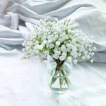 1Pcs 20cm 흰색 아기 호흡 인공 꽃 가짜 Gypsophila DIY 꽃 꽃다발 배열 결혼식 가정 장식 꽃