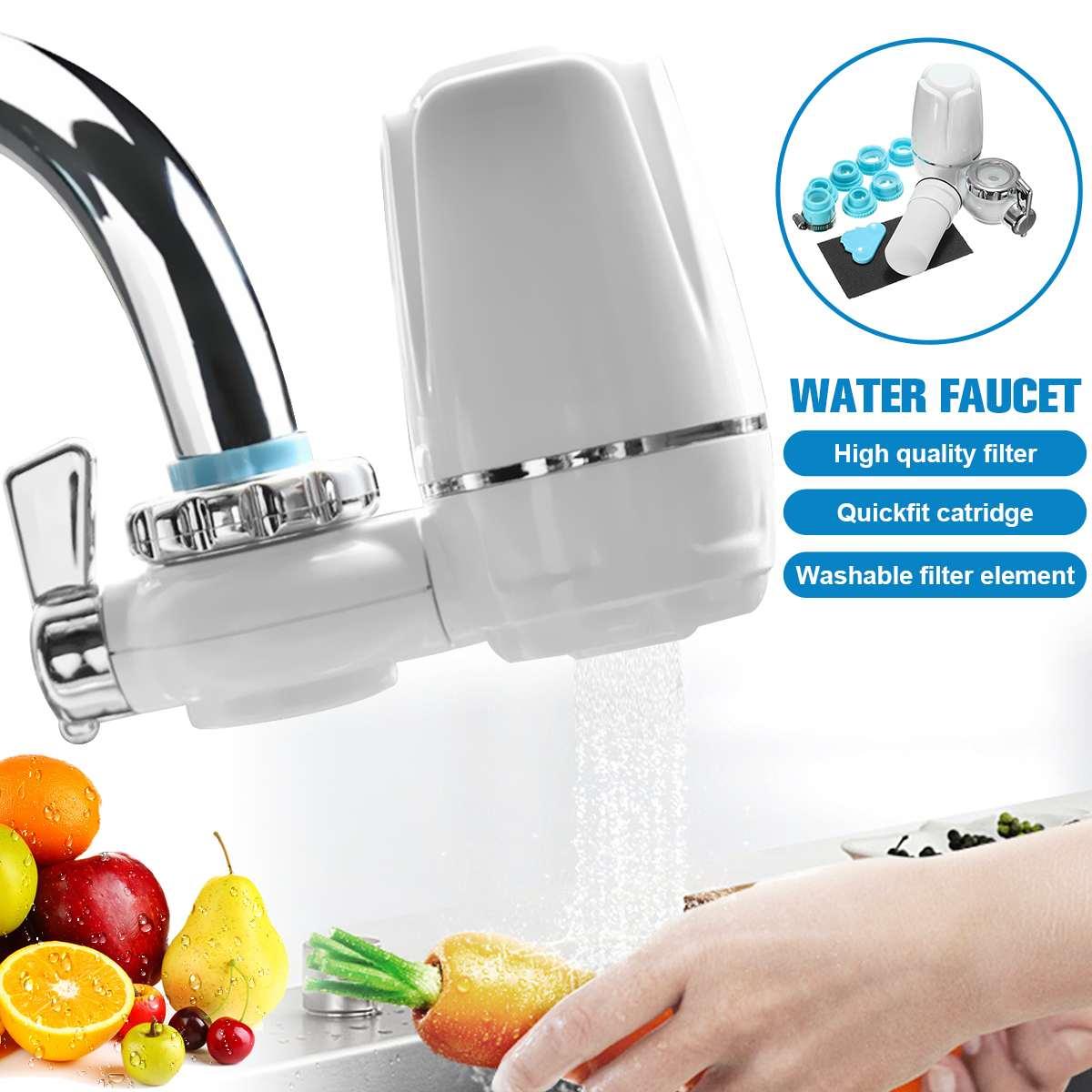 Миниатюрный очиститель для водопроводной воды, кухонный фильтр, моющийся керамический Перколятор для крана, Удаление ржавчины и бактерий, очистка воды
