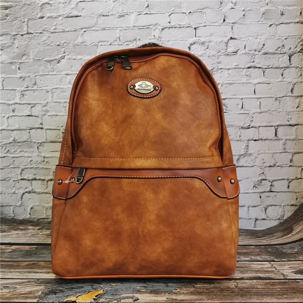 حقيبة ظهر جلدية كلاسيكية للنساء ، حقيبة سفر ، حقيبة كتف ، نمط عتيق ، حقيبة مدرسية يومية ، Mochila Escolar