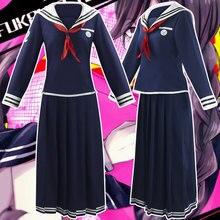 Costume de dessin animé japonais Danganronpa, uniforme Fukawa Toko, uniforme de fête dhalloween, Costume sur mesure