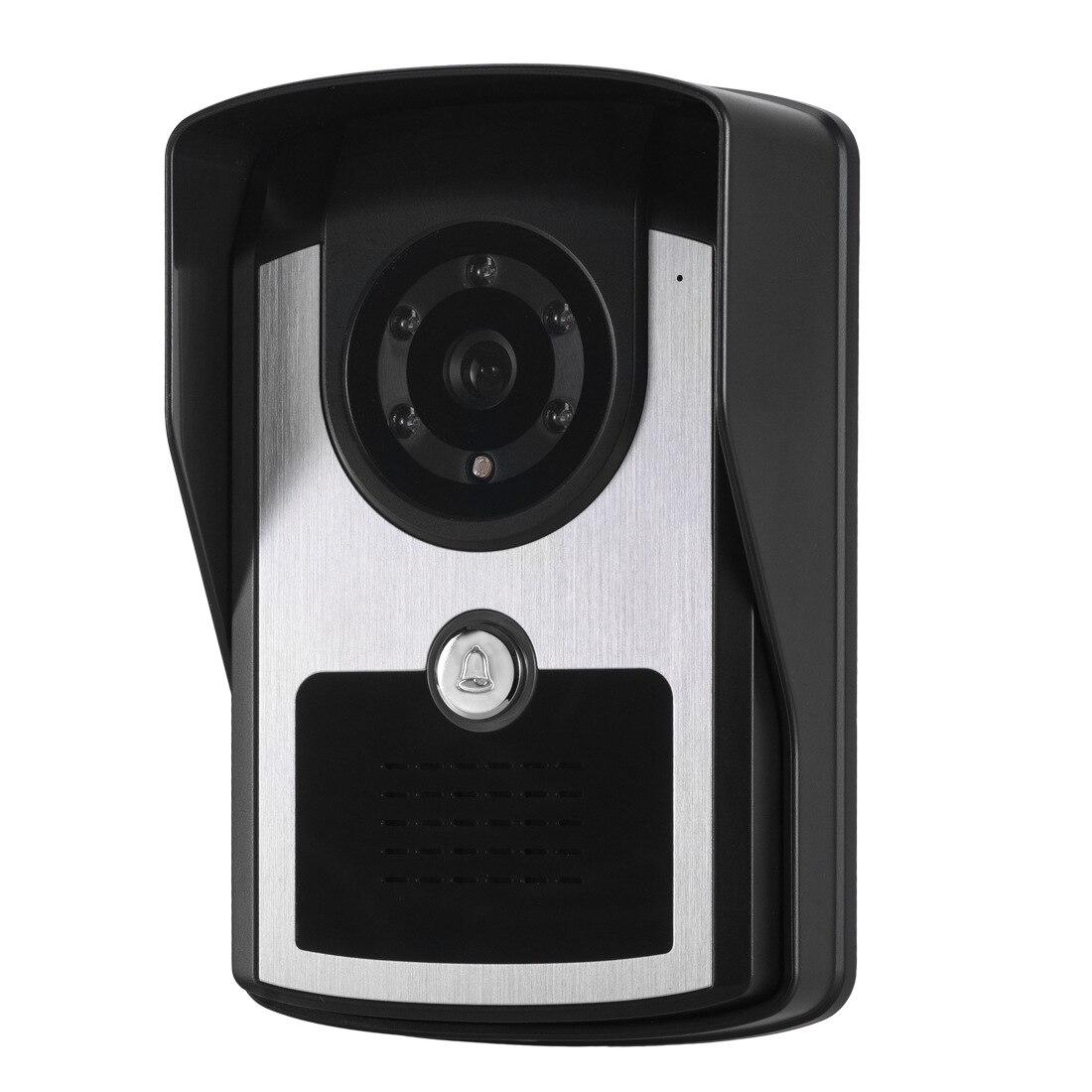 7 Inch Waterproof Video DoorBell with Camera Home Intercom System Kit IR Camera Door Bell Monitor Video Intercom System enlarge