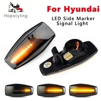 2x for hyundai i10 accent coupe click elantra lavita excel 2 getz led dynamic front side marker turn signal indicator lamp light