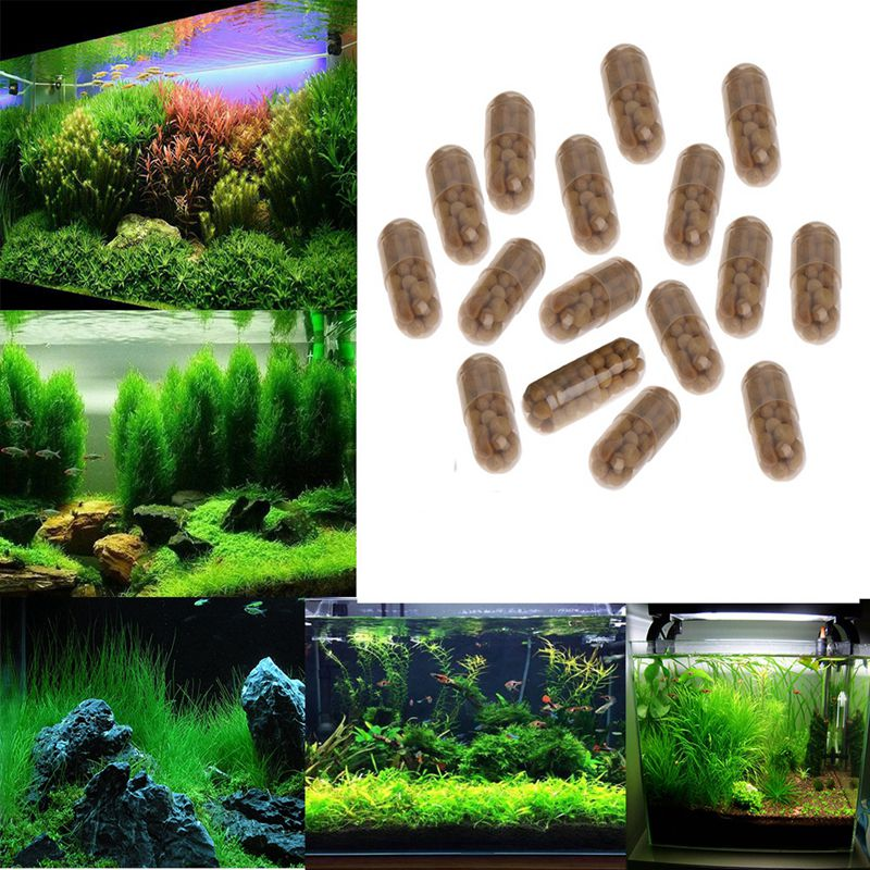 40Pcs/Lot Aquarium Plant Grass Fertilizer Root Tab Capsules Live Water Fish Tank Nutrition Water Grass Nutrition Fertilizer
