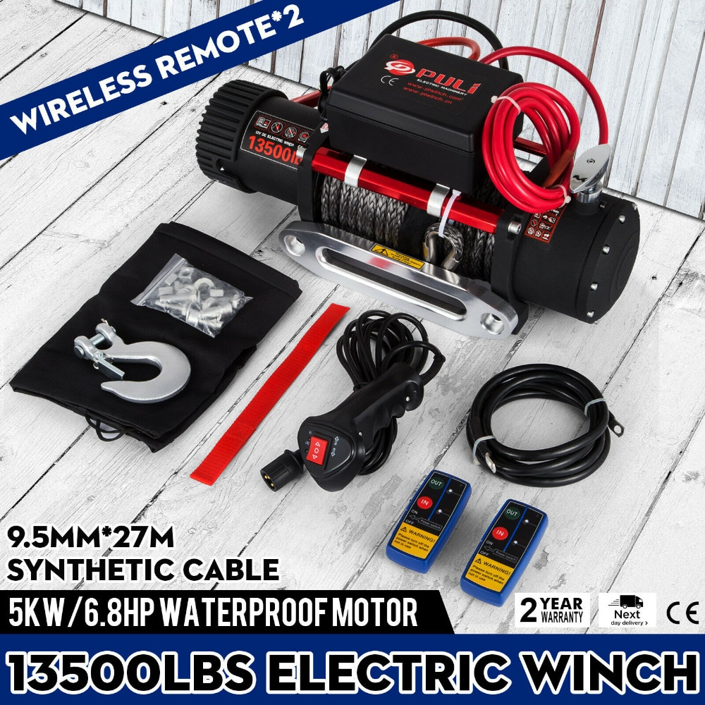 Electric Winch 3000~13500LBS Steel/Synthetic Rope 12V ATV Boat 4x4 Recovery