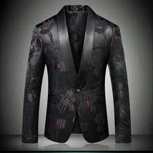Coat 2019 Latest Design Single Breasted Rose Blazer Men Wedding Jacket Prom Party Costumes Stage Sin