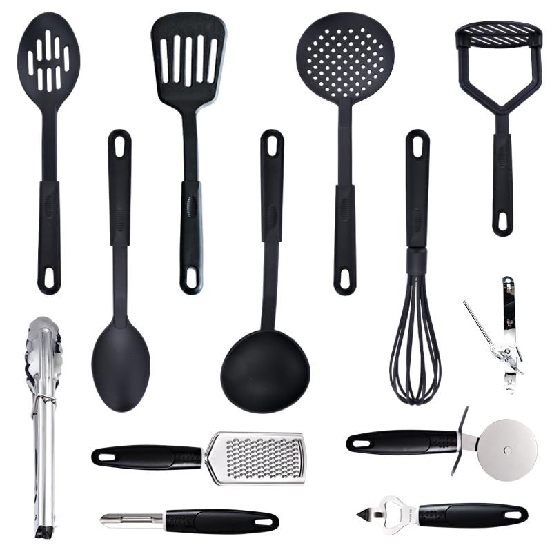 7/13PC Heat Resistant Nylon Cookware Set Nonstick Cooking Tools Kitchen & Baking Tool Kit Utensils Spoon Turner Accessories