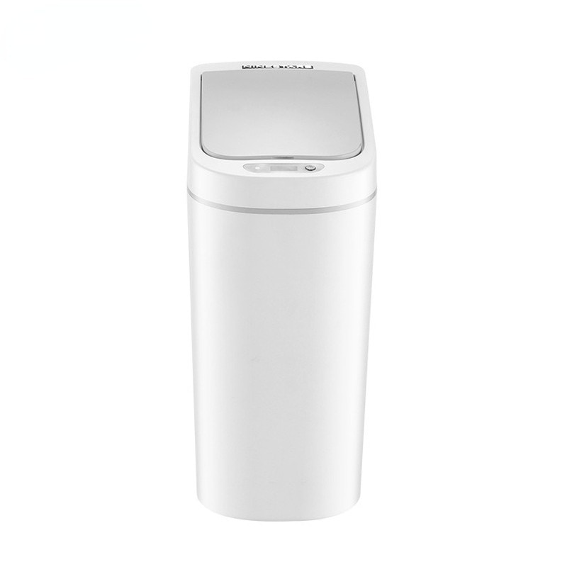 Smart White Trash Can Automatic Living Room Simple Waterproof Sensor Trash Can Kitchen Storage Kosz Na Smieci Household Products enlarge
