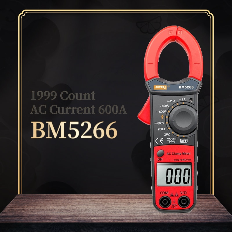 SZBJ BM5266 Digital Clamp Meter Digital-Multimeter 1999 Zählt AC/DC Volt Ampere Ohm Kapazität Phase Diode Megger Amperemeter tester