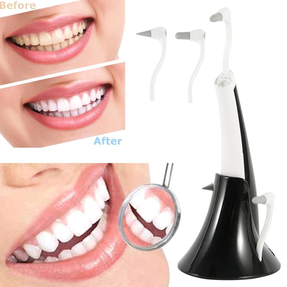 Limpiador de dientes eléctrico portátil ultrasónico eliminador de manchas de dientes placa removedor de manchas dentales juego de limpiador blanqueador de dientes