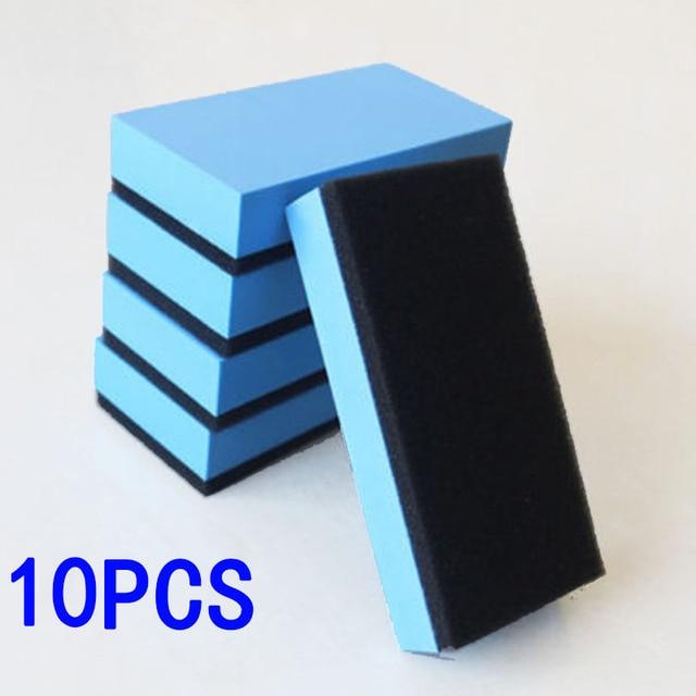 10PC Ceramic Coating Sponges Glass Nano Polishing Pads Wax Coat Applicator Blue Car Wash Maintenance Paint Care