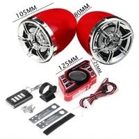 2x amplifier motorcycle speaker handlebar system bluetooth usb fm mp3 remote mic