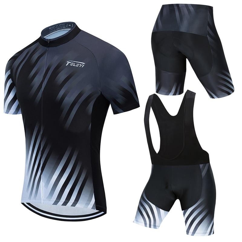 STRAVA 2019 Equipo Conjunto de camisetas de ciclismo verano bicicleta de secado...